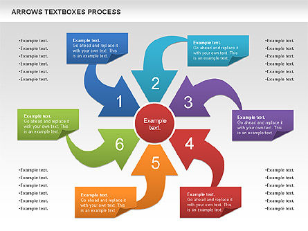 Arrows Textboxes Process Diagram, Slide 8, 00993, Process Diagrams — PoweredTemplate.com
