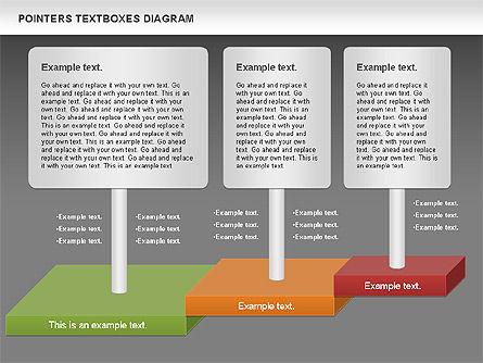 Pointers Textboxes Diagram, Slide 13, 00994, Text Boxes — PoweredTemplate.com