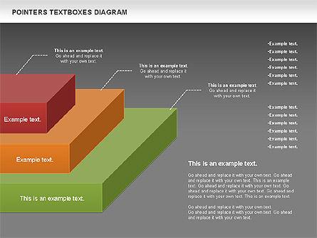 Pointers Textboxes Diagram, Slide 14, 00994, Text Boxes — PoweredTemplate.com