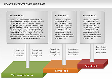 Pointers Textboxes Diagram, Slide 2, 00994, Text Boxes — PoweredTemplate.com