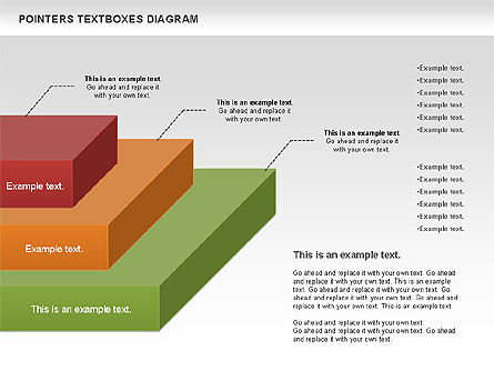 Pointers Textboxes Diagram, Slide 3, 00994, Text Boxes — PoweredTemplate.com
