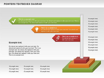 Pointers Textboxes Diagram, Slide 6, 00994, Text Boxes — PoweredTemplate.com