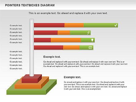 Pointers Textboxes Diagram, Slide 7, 00994, Text Boxes — PoweredTemplate.com