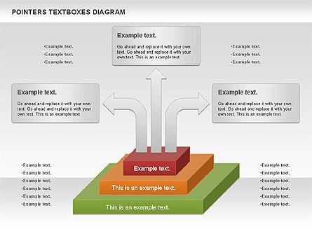 Pointers Textboxes Diagram, Slide 8, 00994, Text Boxes — PoweredTemplate.com