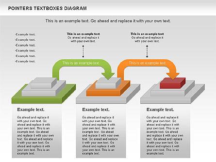 Pointers Textboxes Diagram, Slide 9, 00994, Text Boxes — PoweredTemplate.com