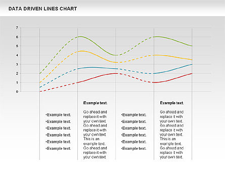 Data Driven Line Diagram, Slide 10, 00996, Business Models — PoweredTemplate.com