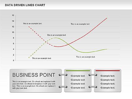 Data Driven Line Diagram, Slide 11, 00996, Business Models — PoweredTemplate.com