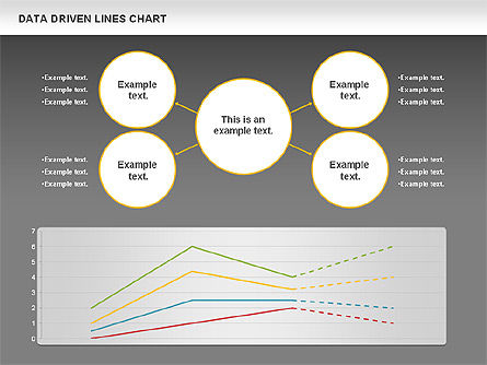 Data Driven Line Diagram, Slide 14, 00996, Business Models — PoweredTemplate.com