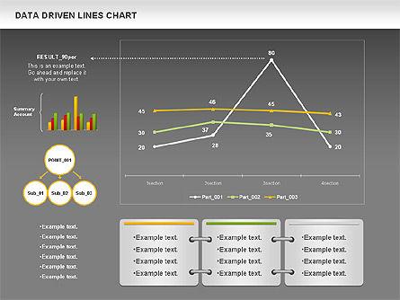 Data Driven Line Diagram, Slide 16, 00996, Business Models — PoweredTemplate.com