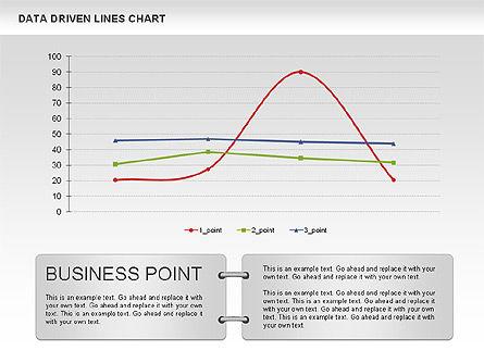 Data Driven Line Diagram, Slide 4, 00996, Business Models — PoweredTemplate.com