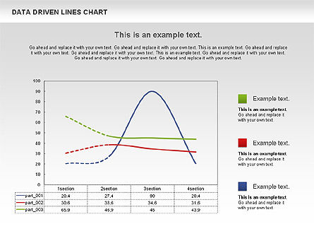 Data Driven Line Diagram, Slide 5, 00996, Business Models — PoweredTemplate.com