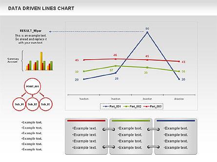 Data Driven Line Diagram, Slide 6, 00996, Business Models — PoweredTemplate.com