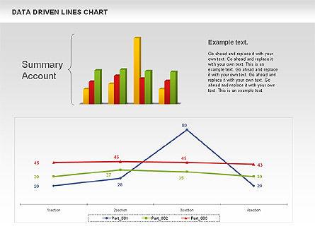 Data Driven Line Diagram, Slide 7, 00996, Business Models — PoweredTemplate.com