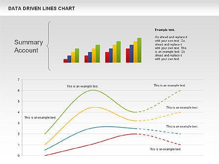 Data Driven Line Diagram, Slide 9, 00996, Business Models — PoweredTemplate.com