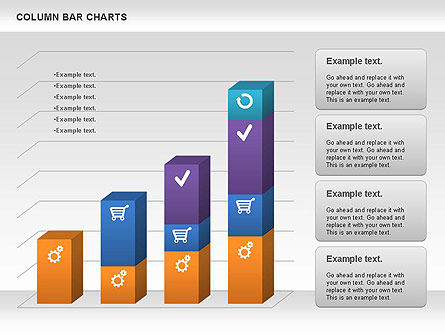 Business Models: Column Bar Chart #00997