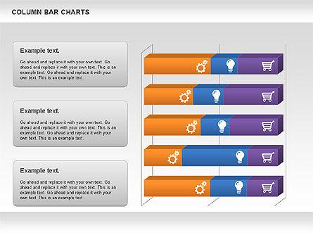 Column Bar Chart, Slide 2, 00997, Business Models — PoweredTemplate.com
