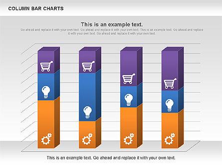 Column Bar Chart, Slide 4, 00997, Business Models — PoweredTemplate.com