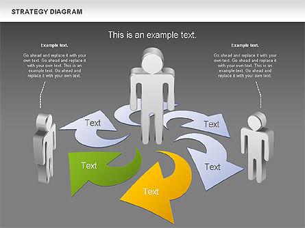 Strategy Process Diagram, Slide 12, 00998, Process Diagrams — PoweredTemplate.com