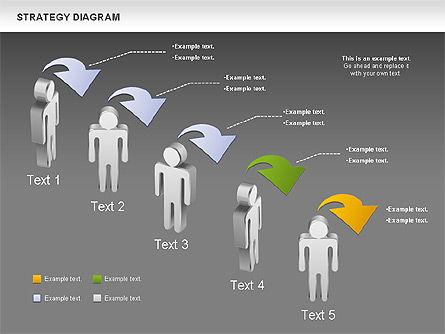 Strategy Process Diagram, Slide 14, 00998, Process Diagrams — PoweredTemplate.com