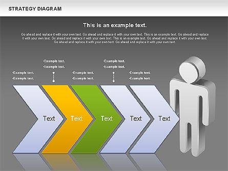 Strategy Process Diagram, Slide 16, 00998, Process Diagrams — PoweredTemplate.com
