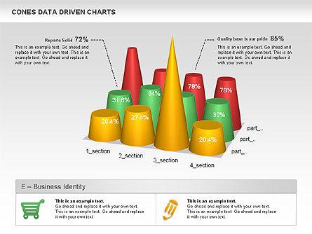 Business Models: Cone Data Driven Chart #00999