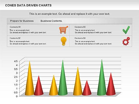 Cones Data Driven Chart, Slide 11, 00999, Business Models — PoweredTemplate.com