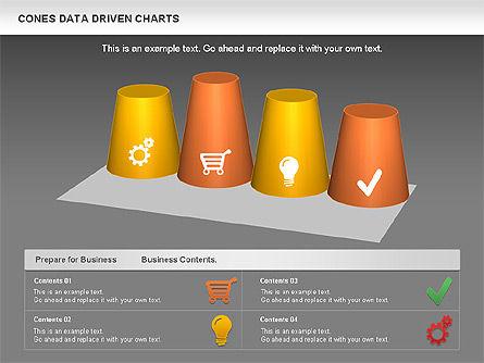 Cones Data Driven Chart, Slide 12, 00999, Business Models — PoweredTemplate.com
