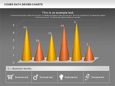 Cones Data Driven Chart, Slide 14, 00999, Business Models — PoweredTemplate.com