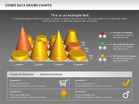 Cones Data Driven Chart, Slide 16, 00999, Business Models — PoweredTemplate.com