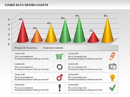 Cones Data Driven Chart, Slide 2, 00999, Business Models — PoweredTemplate.com