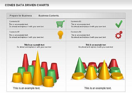 Cones Data Driven Chart, Slide 4, 00999, Business Models — PoweredTemplate.com