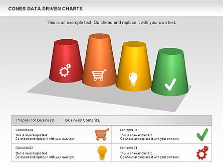 Cones Data Driven Chart, Slide 5, 00999, Business Models — PoweredTemplate.com