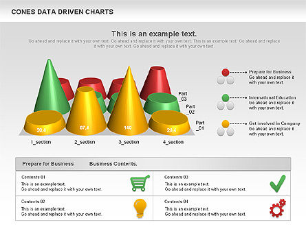 Cones Data Driven Chart, Slide 7, 00999, Business Models — PoweredTemplate.com