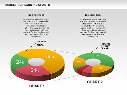 Marketing Plan Pie Chart, 01002, Pie Charts — PoweredTemplate.com