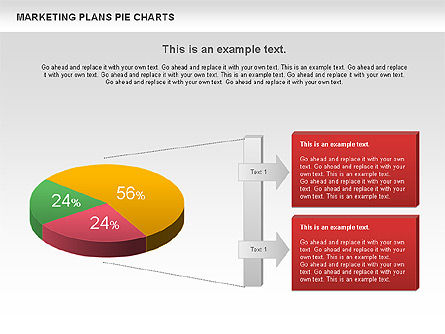 Marketing Plan Pie Chart, Slide 2, 01002, Pie Charts — PoweredTemplate.com