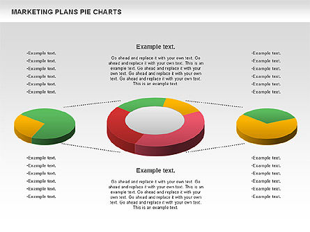 Marketing Plan Pie Chart, Slide 4, 01002, Pie Charts — PoweredTemplate.com