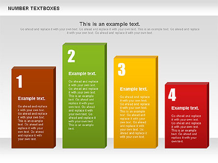 Text Boxes with Numbers, Slide 10, 01010, Text Boxes — PoweredTemplate.com