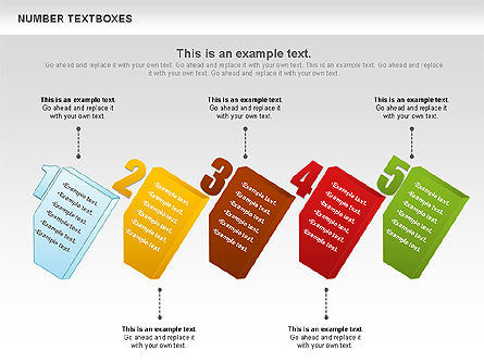 Text Boxes with Numbers, Slide 11, 01010, Text Boxes — PoweredTemplate.com