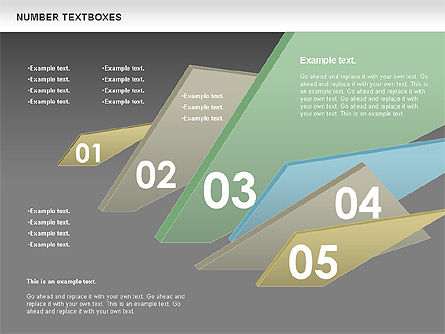Text Boxes with Numbers, Slide 12, 01010, Text Boxes — PoweredTemplate.com