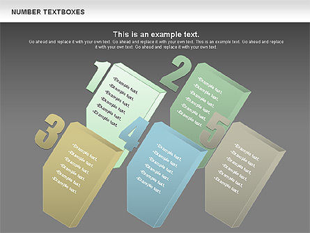 Text Boxes with Numbers, Slide 14, 01010, Text Boxes — PoweredTemplate.com