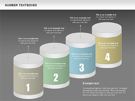 Text Boxes with Numbers, Slide 15, 01010, Text Boxes — PoweredTemplate.com