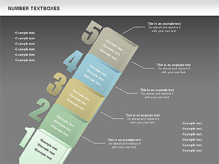 Text Boxes with Numbers, Slide 16, 01010, Text Boxes — PoweredTemplate.com