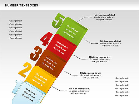 Text Boxes with Numbers, Slide 5, 01010, Text Boxes — PoweredTemplate.com