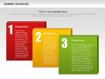 Text Boxes with Numbers, Slide 6, 01010, Text Boxes — PoweredTemplate.com