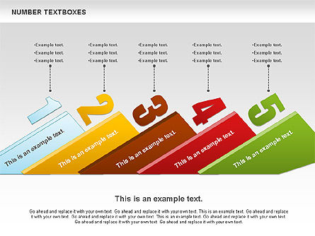 Text Boxes with Numbers, Slide 7, 01010, Text Boxes — PoweredTemplate.com