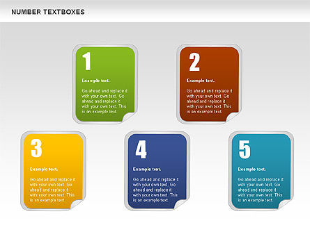Text Boxes with Numbers, Slide 8, 01010, Text Boxes — PoweredTemplate.com