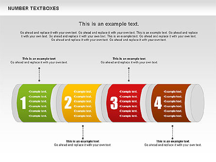 Text Boxes with Numbers, Slide 9, 01010, Text Boxes — PoweredTemplate.com