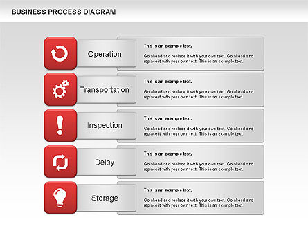 Business Process Diagram, 01011, Process Diagrams — PoweredTemplate.com