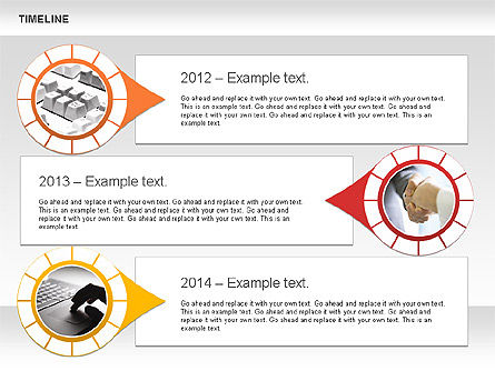 Timeline with Photos Diagram, Slide 10, 01012, Tree Diagrams — PoweredTemplate.com