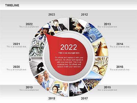 Timeline with Photos Diagram, Slide 11, 01012, Tree Diagrams — PoweredTemplate.com